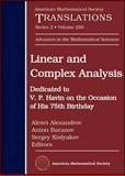 Linear and Complex Analysis, Anton Baranov, and Sergey Kislyakov Alexei Alexandrov, 0821848011