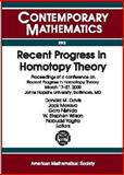 Recent Progress in Homotopy Theory, , 0821828010