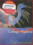 College Algebra, Schneider, David I. and Lial, Margaret L., 0321228014