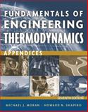 Fundamentals of Engineering Thermodynamics - Appendices, Moran, Michael J. and Bailey, Margaret B., 1118108019