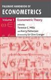 Palgrave Handbook of Econometrics 9781403918024