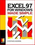 Excel 97 for Windows Made Simple, Morris, Stephen, 0750638028