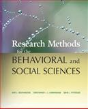 Research Methods for the Behavioral and Social Sciences 9780470458037