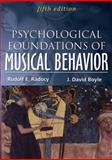 Psychological Foundations of Musical Behavior, Radocy, Rudolph/E and Boyle, J. David, 0398088047