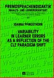 Variability in Learner Errors As a Reflection of the Clt Paradigm Shift, Pfingsthorn, Joanna, 3631638043