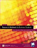 Research Methods for Business Students, Saunders, Mark and Lewis, Philip, 0273658042