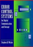 Error Control Systems for Digital Communication and Storage, Wicker, Stephen B., 0132008092