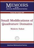 Small Modifications of Quadrature Domains, Makoto Sakai, 0821848100