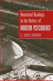 Annotated Readings in the History of Modern Psychology, Goodwin, C. James and Goodwin, 0470228113