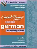 Michel Thomas Method Speak German Vocabulary Builder, Thomas, Michel, 0071488111