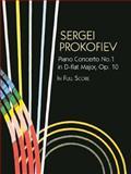 Piano Concerto No. 1 in D-Flat Major, Op. 10, in Full Score, Sergei Prokofiev, 0486438112
