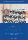 Henry of Ghent's Summa : The Questions on God's Unity and Simplicity (Articles 25-30), Henry, 904291811X