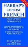Harrap's Concise French-English Dictionary, Patricia Forbes, 0671888129