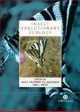 Insect Evolutionary Ecology, Rolff, J., 0851998127
