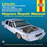 Lincoln Rear-Wheel Drive Models, 1970 Thru 2005, Max Haynes, 1563928124