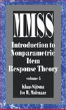 Introduction to Nonparametric Item Response Theory, Sijtsma, Klaas and Molenaar, Ivo W., 0761908129