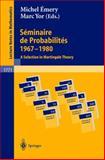 Seminaire de Probabilites, 1967-1980, , 3540428135