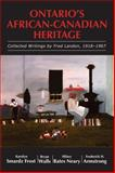 Ontario's African-Canadian Heritage, , 1550028146