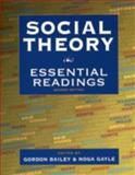 Social Theory : Essential Readings, , 019541814X