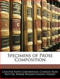 Specimens of Prose Composition, Chester Noyes Greenough and Charles Read Nutter, 1142918149