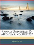 Annali Universali Di Medicina, Anonymous, 114415815X