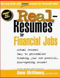 Real-Resumes for Financial Jobs 9781885288158