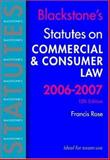 Commerical and Consumer Law 2006-2007, Francis Rose, 019928816X