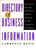 Directory of Business Information, Rasie, Lawrence, 047159816X