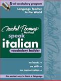 Michel Thomas Method Speak Italian Vocabulary Builder, Thomas, Michel, 0071488170