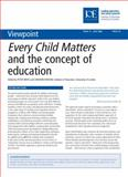 Every Child Matters and the Concept of Education, Haydon Moss and Graham Haydon, 0854738193