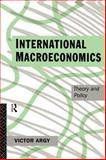 International Macroeconomics, Victor Argy, 041509822X