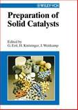 Preparation of Solid Catalysts, Jens Knozinger, 3527298266