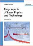 Encyclopedia of Laser Physics and Technology, Rüdiger Paschotta, 3527408282