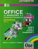 Microsoft Office for Windows 3.1 Introductory Concepts and Techniques : Course One Enhanced Edition, Shelly, Gary B. and Cashman, Thomas J., 0789528290