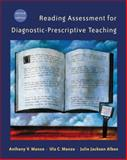 Reading Assessment for Diagnostic-Prescriptive Teaching, Manzo, Anthony V. and Manzo, Ula C., 0534508294