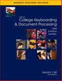 GREGG College Keyboarding and Document Processing, Ober, Scot and Johnson, Jack E., 0073368318