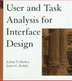 User and Task Analysis for Interface Design, Hackos, JoAnn T. and Redish, Janice C., 0471178314
