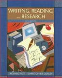 Writing, Reading, and Research, Veit, Richard and Gould, Christopher, 0618918329