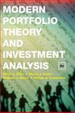 Modern Portfolio Theory and Investment Analysis, Elton, Edwin J. and Brown, Stephen J., 0470388323