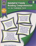 Nonfiction Reading Comprehension for the Common Core Grd 8, Heather Wolpert-Gawron, 1420638335