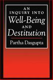 An Inquiry into Well-Being and Destitution 9780198288350