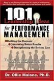 101 Leadership Actions for Performance Management, Ollie, Malone, 0874258359