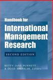 Handbook for International Management Research 9780472068371