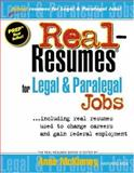 Real-Resumes for Legal and Paralegal Jobs, , 1885288387