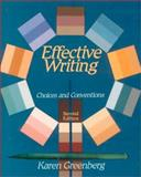 Effective Writing 9780312048389