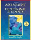 Assessment of Exceptional Students, Taylor, Ronald L., 0205608396