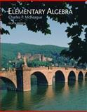 Elementary Algebra, McKeague, Charles P., 0495108391