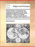 Sacred Literature, David Simpson, 1170628419