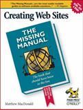 Creating Web Sites, MacDonald, Matthew, 0596008422