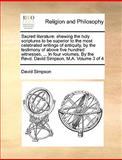 Sacred Literature, David Simpson, 1170628427